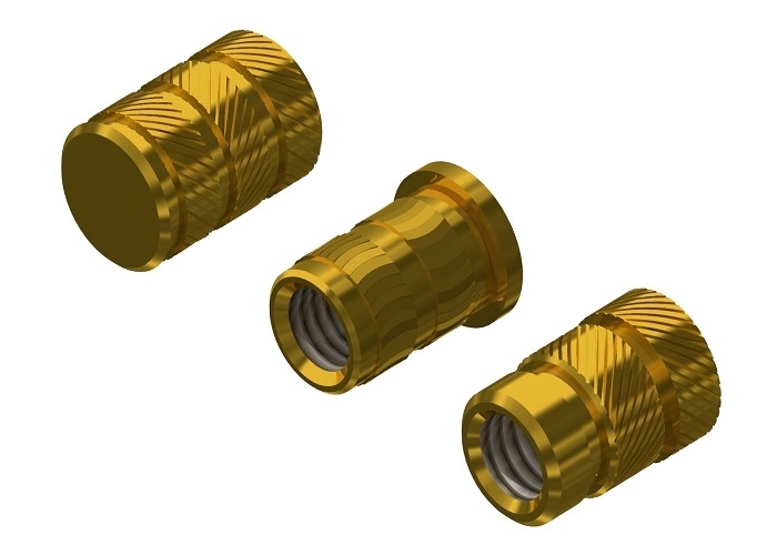 BLIND ENDED BRASS THREADED INSERTS MOULD-IN INSTALLATION