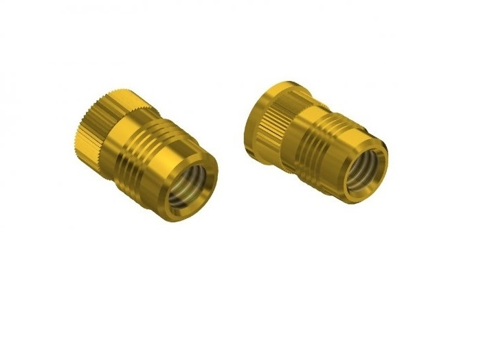 THREADED INSERTS FOR PLASTIC WITH ASSEMBLY BY PRESSURE UFL_HFL