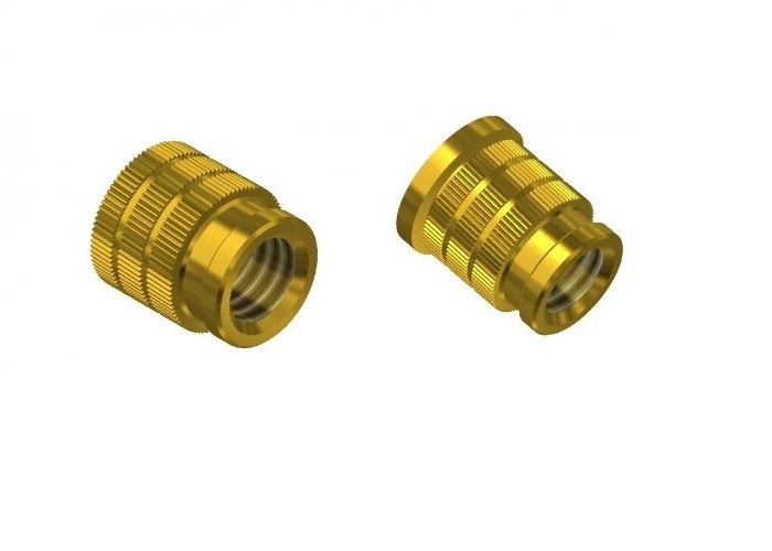 THREADED INSERTS FOR PLASTIC WITH ASSEMBLY BY PRESSURE USP_HSP
