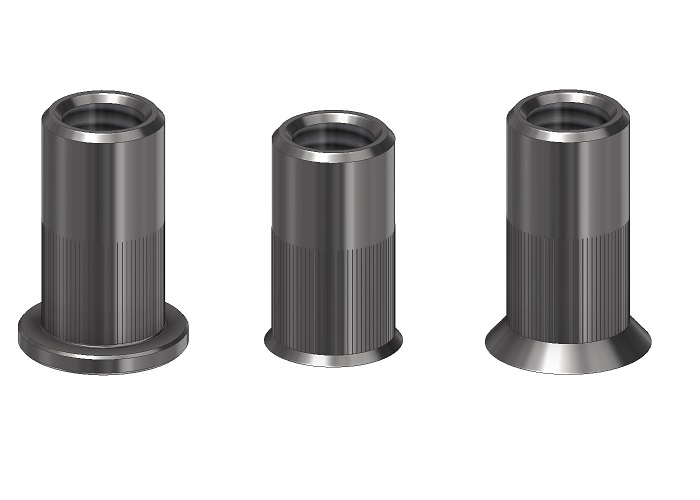 CYLINDRICAL KNURLED RIVET NUTS