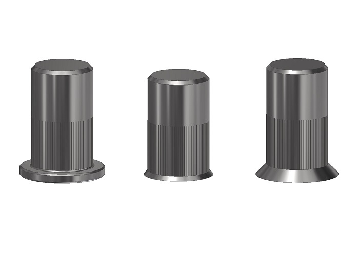 CYLINDRICAL RIVET NUTS CLOSED END